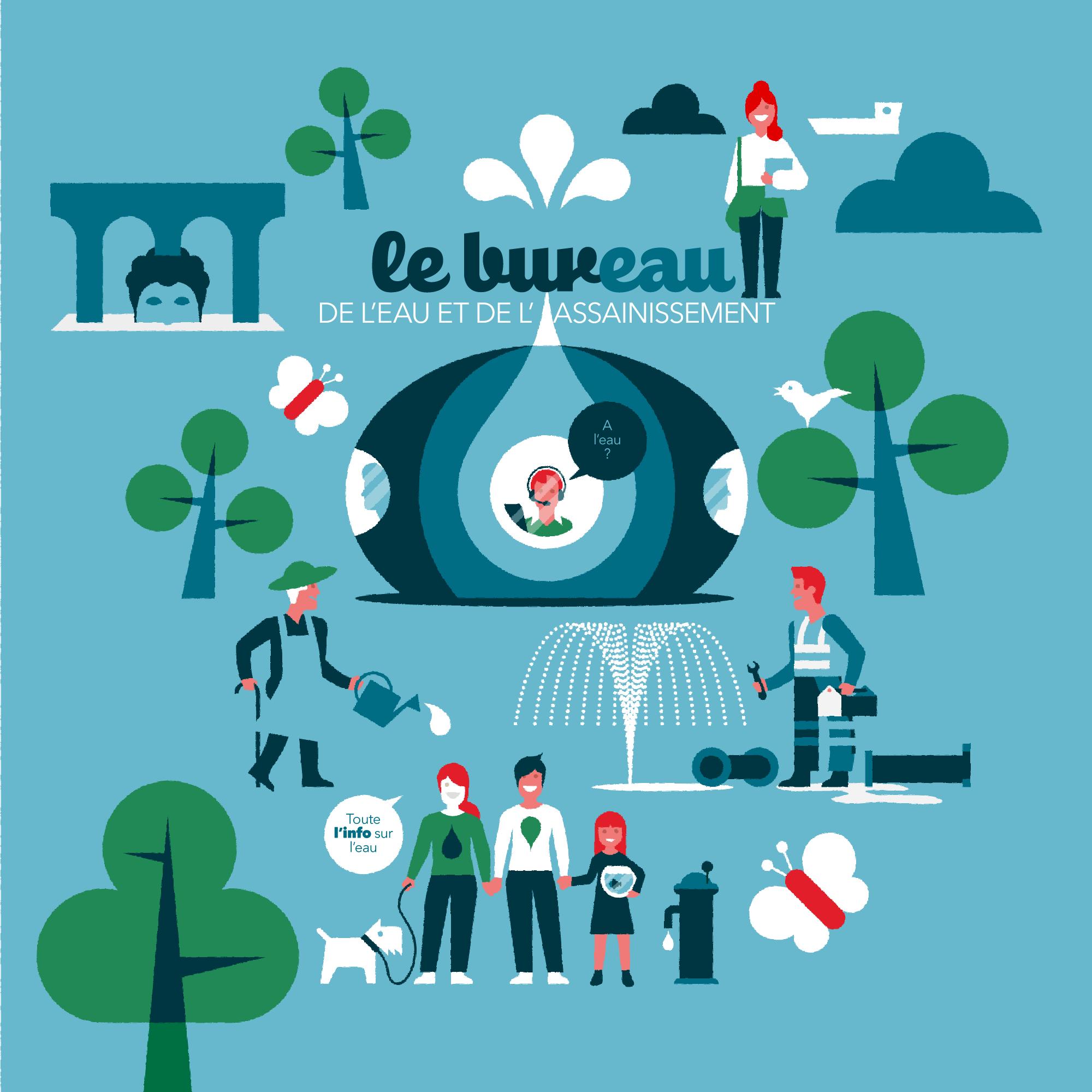 Affiche service de l'eau