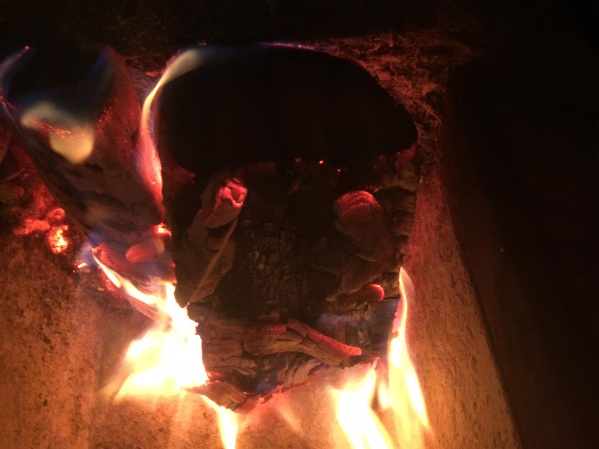 La buche en flamme