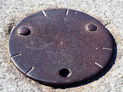 La plaque en métal au Belchen