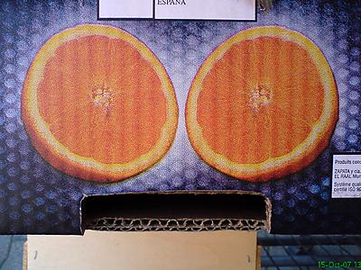 Le Cageot en carton ...à oranges